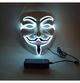 Anonymous LED Mask, White