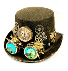 Steampunk Hat With Holographic Goggles