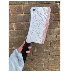Bloody Butcher Knife Weapon, Realistic Foam