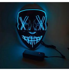LED Stitches Mask, Blue