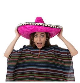 Mexican Sombrero Hat, Pink