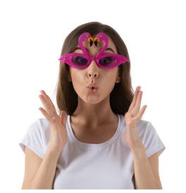 Hawaiian Flamingo Sunglasses, Pink