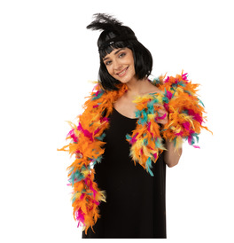 Stylex Party Feather Boa, Multicoloured