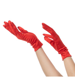 Short Gloves, Red