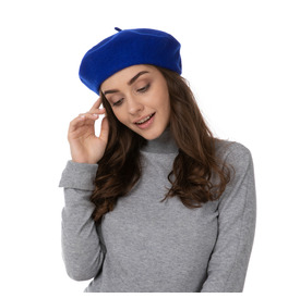 Stylex Party Beret Hat, Blue