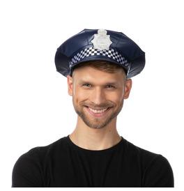 UK Checkered Police Hat, Navy