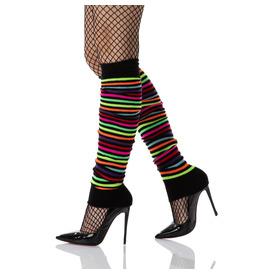 Leg Warmers, Black Rainbow