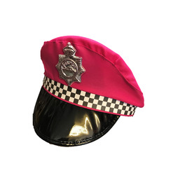 UK Checkered Police Hat, Pink