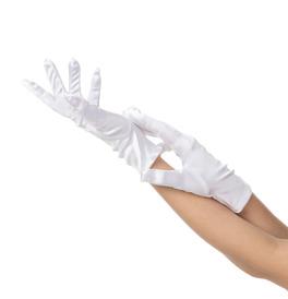 Short Gloves, White