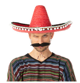 Mexican Sombrero Hat, Red