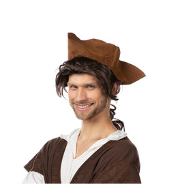 Trident Pirate Hat, Brown