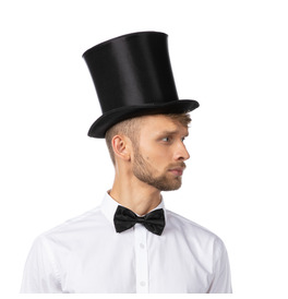 Stylex Party Bell Top Hat, Black