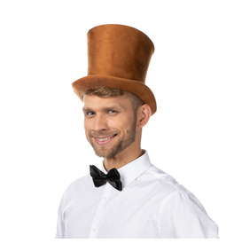 Stylex Party Bell Top Hat, Brown