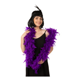Stylex Party Feather Boa, Purple