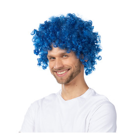 Afro Wig, Blue