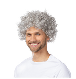 Afro Wig, Grey