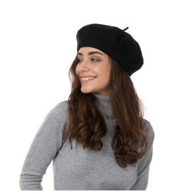 Stylex Party Beret Hat, Black