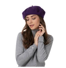 Stylex Party Beret Hat, Purple