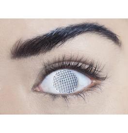 Mesmereyez White Mesh Contact Lenses