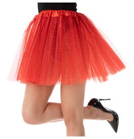 Stylex Party TUTU Skirt, Glitter Red