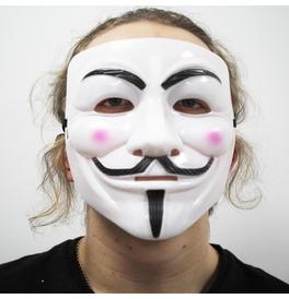 White Anonymous V Hacker Mask