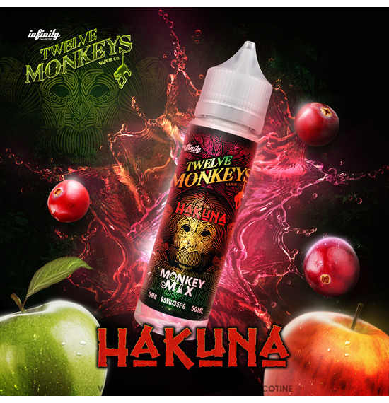 Hakuna 50ml E-Liquid by Twelve Monkeys