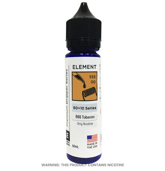 Element 555 Tobacco E-Liquid 50ml