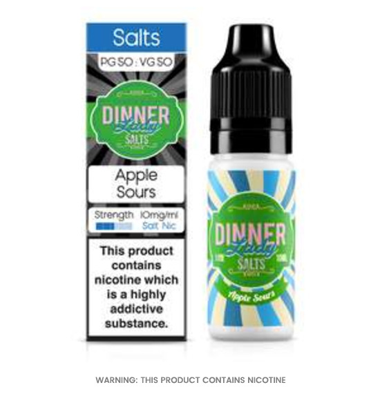 Apple Sours 10ml Nic Salt E-Liquid by Dinner Lady