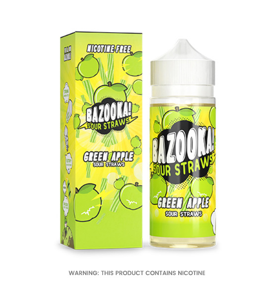 Bazooka Sour Green Apple E-Liquid 100ml
