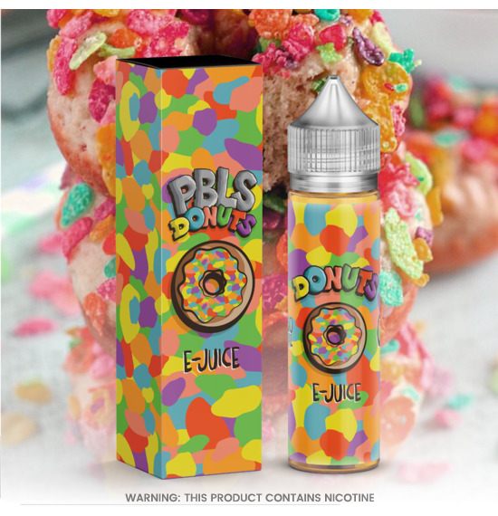 Donuts Pebbles 60ml E-Liquid by Marina Vape