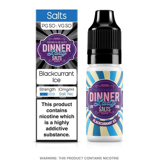 Dinner Lady Blackcurrant Ice Nic Salt E-Liquid 10ml