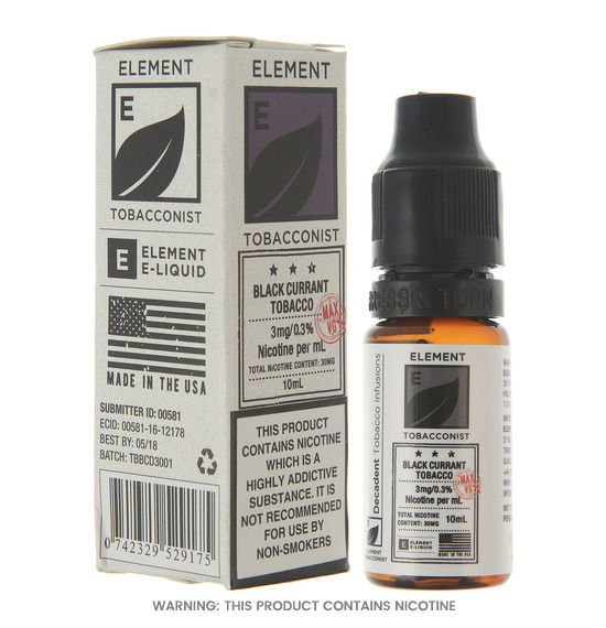 Element Blackcurrant Tobacco Dripper E-Liquid
