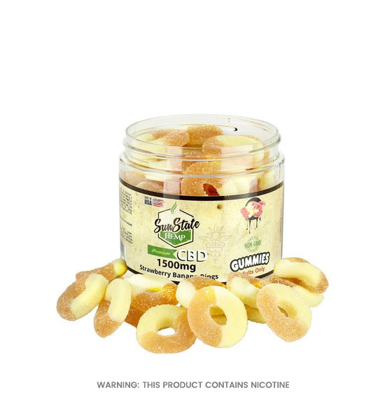 Strawberry Banana Rings CBD Gummies by Sun State Hemp