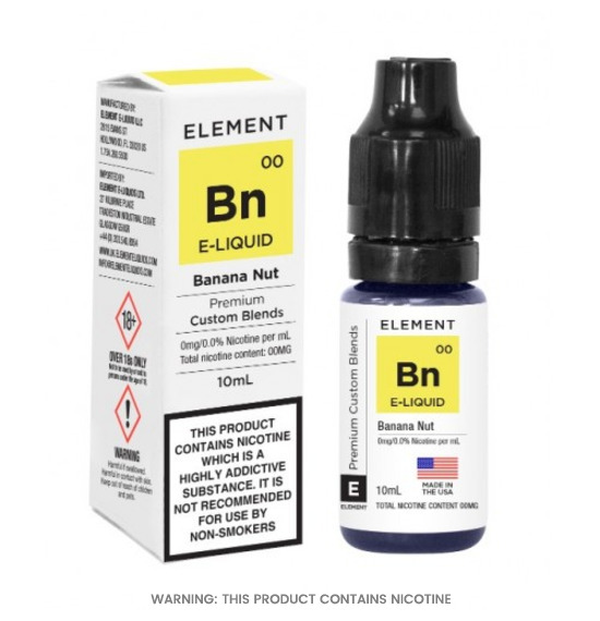 Element Banana Nut 50/50 E-Liquid 10ml