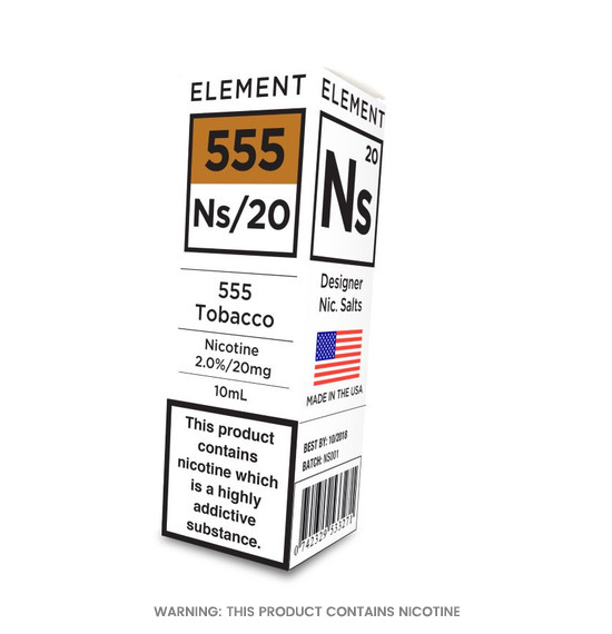 Element 555 Tobacco Nic Salt E-Liquid 10ml