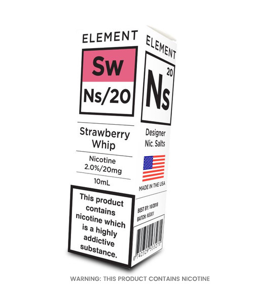 Element NS/20 Strawberry Whip E-Liquid