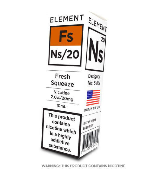 Element Fresh Squeeze Nic Salts E-Liquid 10ml