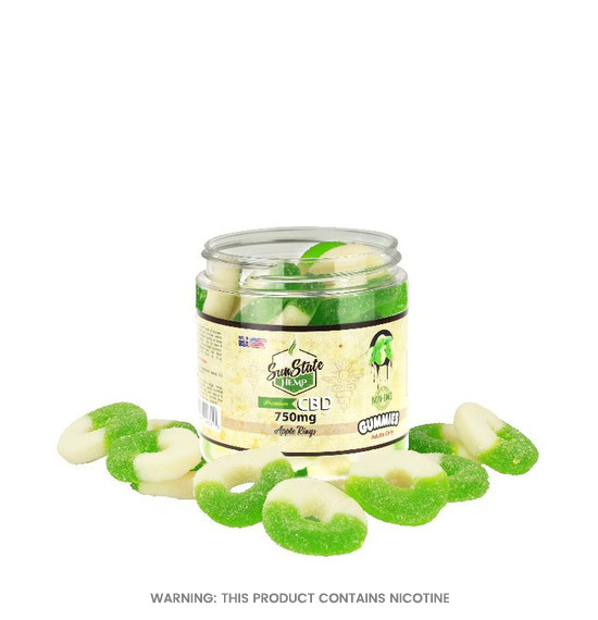 Apple Rings CBD Gummies by Sun State Hemp