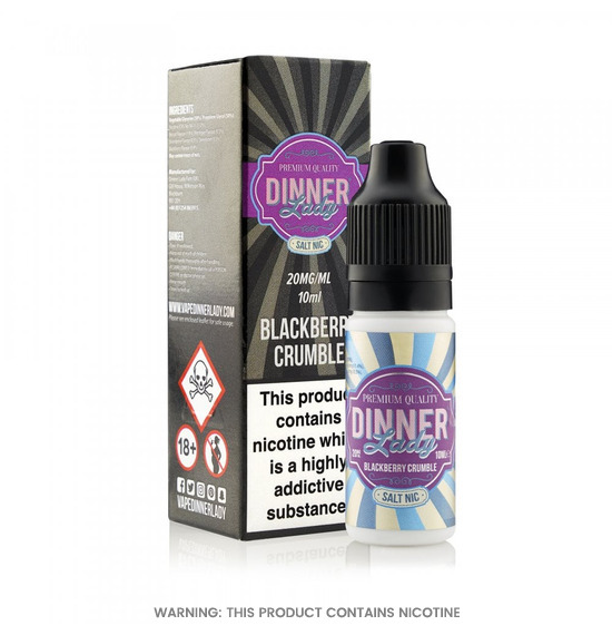 Dinner Lady Blackberry Crumble Nic Salt E-Liquid 10ml