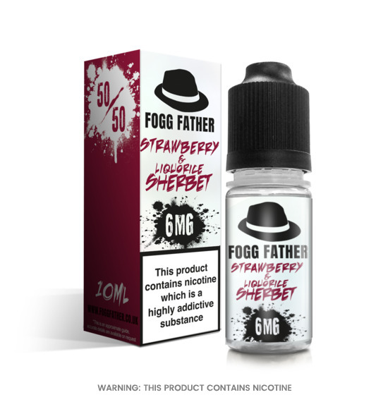 Strawberry Liquorice Sherbet 10ml E-Liquid Fogg Father