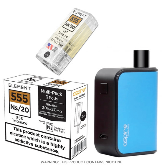 Aspire Gusto mini pod & 555 Tobacco Ns/20