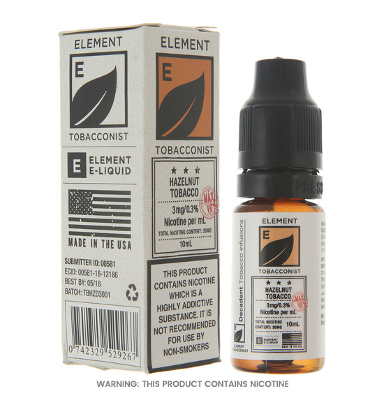 Element Hazelnut Tobacco Dripper E-Liquid