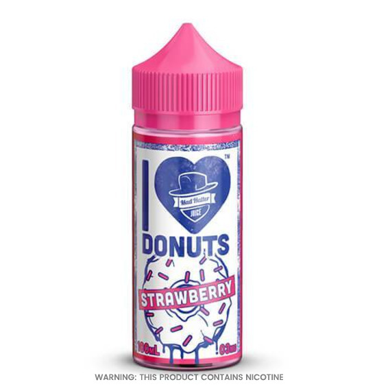 I Love Donuts Strawberry 80ml E-Liquid by Mad Hatter