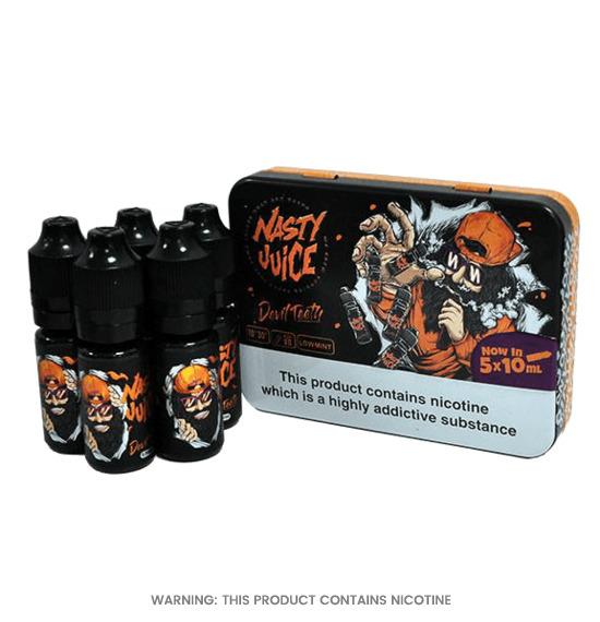 Devil Teeth Pack of 5 E-Liquid by Nasty Juice