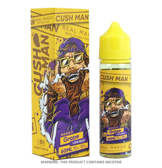 Cush Man Series Mango Grape 50ml E-Liquid by Nasty Juice
