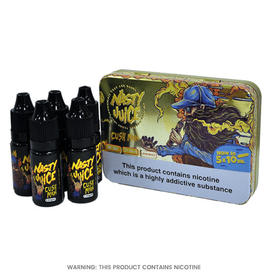 Cush Man Pack of 5 E-Liquid by Nasty Juice