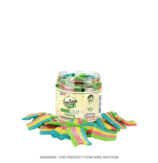Gummy Sour Strips CBD Gummies by Sun State Hemp