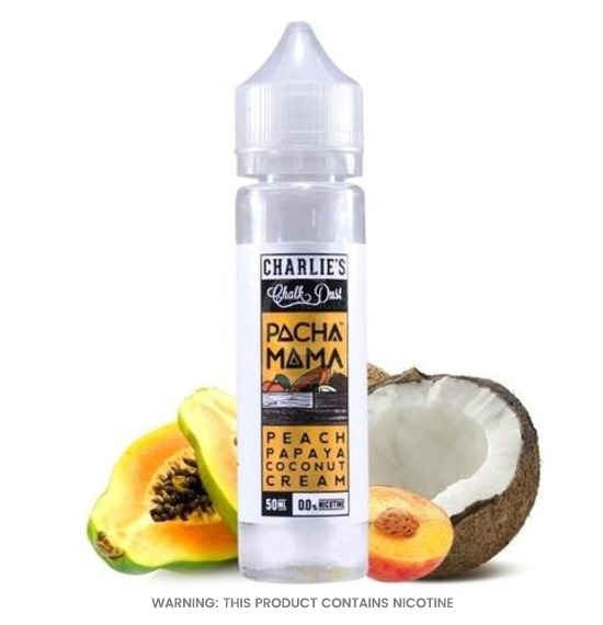 Charlies Chalk Dust Pacha Mama Peach Papaya Coconut Cream E-Liquid 50ml