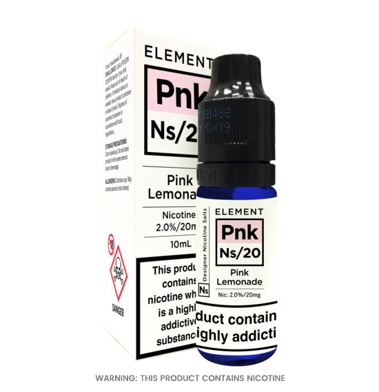 Element Pink Lemonade Nic Salt E-Liquid 10ml