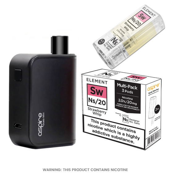 Aspire Gusto mini pod & Strawberry Whip Ns/20